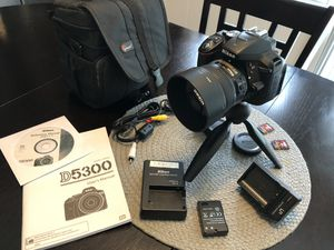 Nikon d5300, lens and accessories for Sale in Tampa, FL