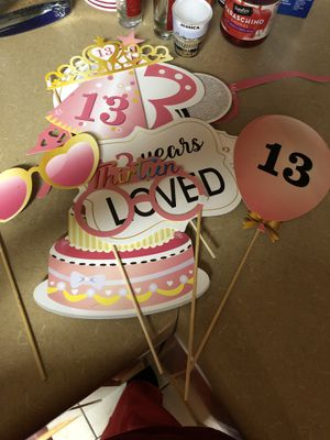 Photo props for 13 year old birthday for Sale in Modesto, CA
