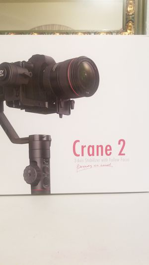 Zhiyun Crane 2 Support system - motorized handheld stabilizer for Sale in Modesto, CA