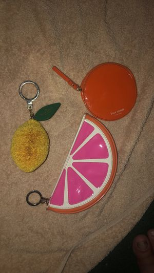 Kate Spade summer fruits keychain and coin purse bundle ! for Sale in Dearborn, MI