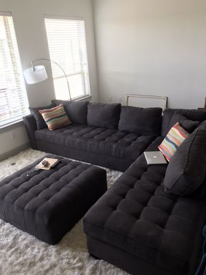 Cindy Crawford XL sectional in slate for Sale in Dallas, TX