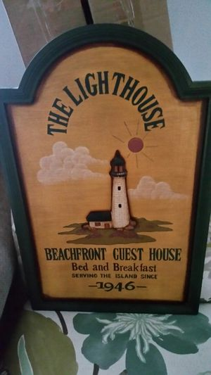 LIGHTHOUSE WOODEN SIGN for Sale in Frederick, MD