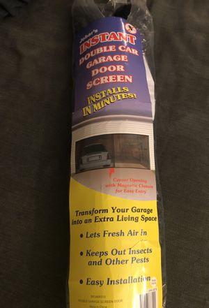 Double car garage door screen for Sale in Fresno, CA