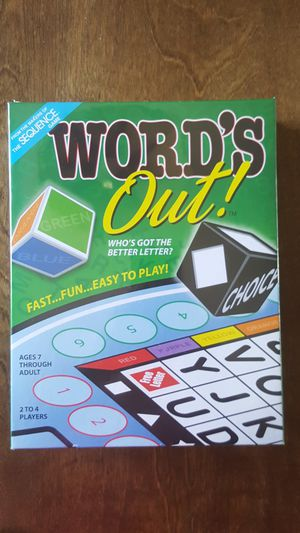 Brand new, UNOPENED game, Word's Out for Sale in Columbus, OH