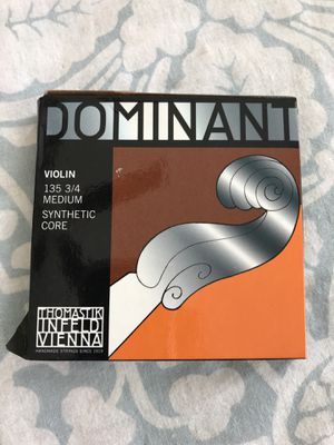 COMPLETE SET Dominant brand 3/4 size violin strings for Sale in Apex, NC
