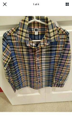 NWOT Janie and Jack Toddler Boy Shirt Size 4 Casual Button Down Long Sleeve for Sale in Renton, WA
