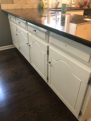 White Kitchen Oak Cabinets and Black Granite Countertops for Sale in Naperville, IL