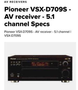 Pioneer VSX-D709S AV Receiver 5.1 channel for Sale in Mesa, AZ