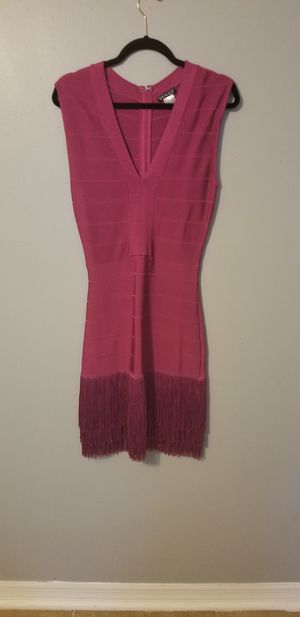 NEW Venus Pink bodycon evening dress with fringe Size 8 for Sale in Tampa, FL