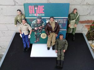 """1964 - 1996 GI Joe 12"""" Action Soldiers Collectables / Lot Of 5 Soldiers / Great Condition & 50% Off Today for Sale in Anaheim, CA"""