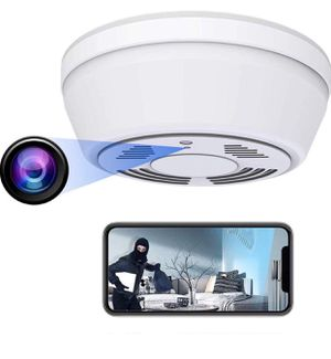 Hidden Camera Smoke Detector - Spy Camera 180 Days Standby Mini HD 1080P WiFi Night Vision Motion Detection Video Recorder Real-Time View Nanny Cam for Sale in Upland, CA
