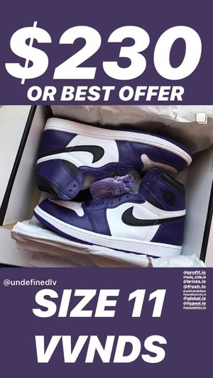 Jordan 1 Court Purple 2.0 Retro High Nike Air Sneakers for Sale in Henderson, NV