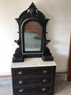 Antique furniture... Ok to good condition... It just needs a little love TLC & a new mirror for Sale in Frederick, MD