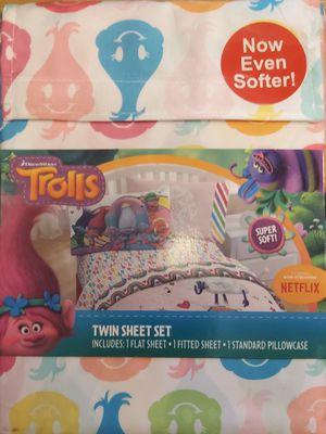 Trolls twin sheet set. for Sale in Graham, WA