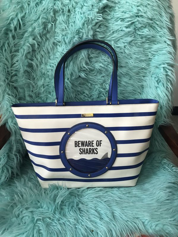 "Kate Spade ♠️ ""Beware of Sharks"" Large Tote/Purse"