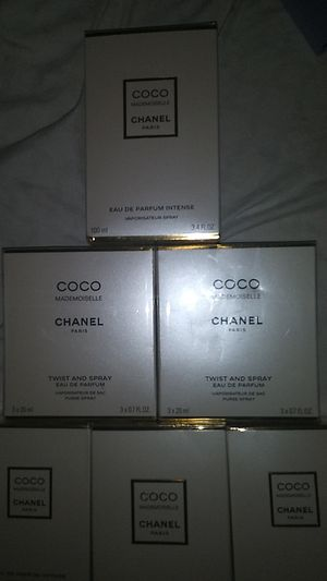 Brand New Coco Chanel mademoiselle perfumes Inquire for prices for Sale in Portland, OR