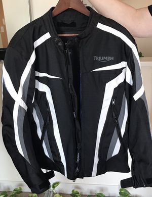 Triumph Motorcycle jacket, never used in excellent condition, size 44/54 with thermal liner, back, arm, shoulder protection. US mens size M/L for Sale in Mount Prospect, IL