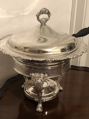 Oneida and Leonard Silver Chafing Dish W/Lid, Liner, Stand & Burner - Gorgeous! for Sale in Los Angeles, CA