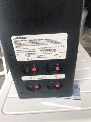 Bose Acoustimass 3 Series IV Speaker for Sale in Summit, NJ