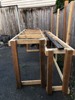 Topless wood table structure for Sale in Issaquah, WA