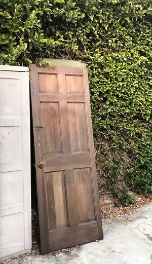 Solid wood door 28x80 / 24x80 window are 24x30 for Sale in Los Angeles, CA