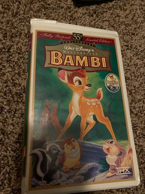 Bambi Walt Disney's masterpiece, fully restored 55th Limited addition masterpiece collection VHS for Sale in Pflugerville, TX