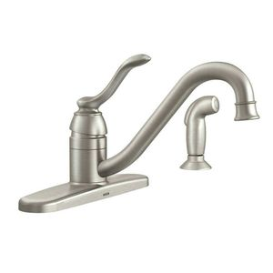 MOEN Banbury Single-Handle Standard Kitchen Faucet with Side Sprayer in Spot Resist Stainless for Sale in Saint Joseph, MO