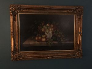 Framed traditional still life oil painting for Sale in Richmond, VA