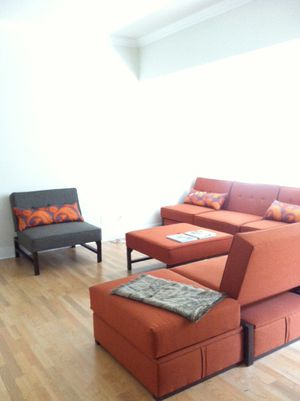 Beautiful Modular Sectional Sleeper Couch, Chair, Ottoman and Storage for Sale in Oceanside, CA