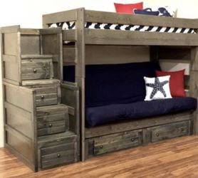 Futon bunk bed color choice under drawers sold separately for Sale in Glendale,  AZ