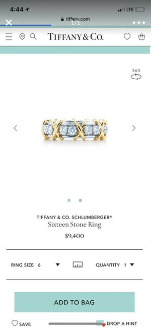 Tiffany and co. Diamond schlumberg collection Ring . Sixteen Stone for Sale in Miami, FL