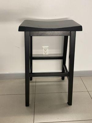 Set of 4 black Trenton Saddle Seat Barstools for Sale in Brooklyn, NY