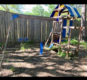 Wood Playground swing set for Sale in Fort Worth, TX