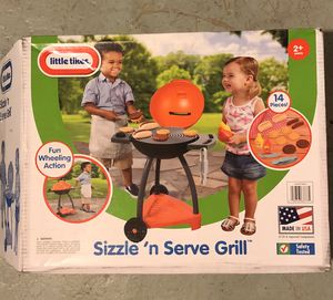 Little tikes Sizzle and Serves kids barbecue toy set pickup in Elizabeth today for Sale in Elizabeth, NJ