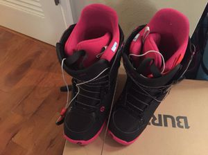 Burton boots women's size 10 and snowboard for Sale in Denver, CO