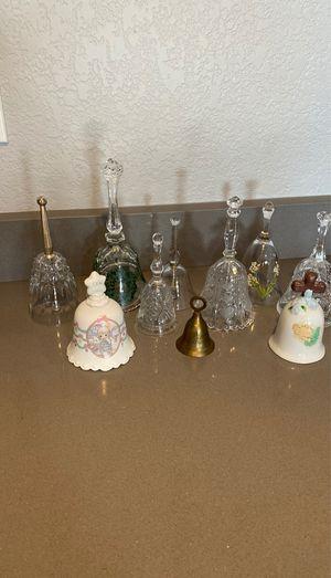 Vintage crystal, porcelain, brass bells for Sale in Phoenix, AZ