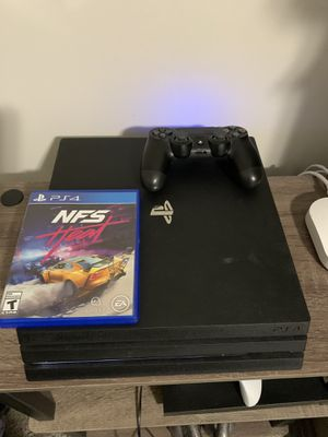 Ps4 pro with need for speed heat & controller great condition for Sale in Cary, NC