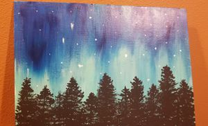 Northern lights Forest hand painting!! for Sale in San Luis Obispo, CA