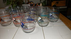 12 NFL VINTAGE DRINKING GLASSES for Sale in Anaheim, CA