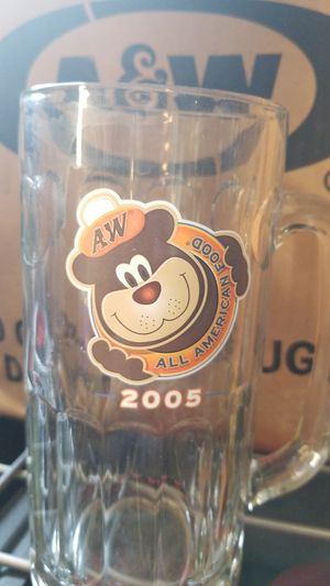 2005 20oz A&W Glass mug with Bear face on it. Collectable for Sale in Fircrest, WA