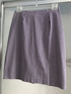 2 Piece Christie Girl by Dori Atler Purple/White With Collar Sleeveless Button Down Pencil Skirt Searsucker Womens Suiting Ensemble- Size 6 for Sale in Alexandria, VA