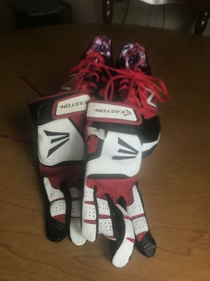 Red Nike Baseball cleats & gloves for Sale in Belleville, MI