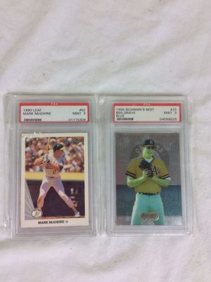 Lot of 2 Graded PSA Graded Baseball Cards Mark McGwire for Sale in Severn, MD