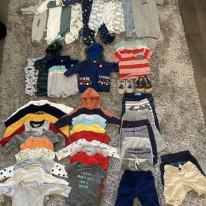 Baby Boy Clothing Lot 3-6 Months (50 Pieces) for Sale in Federal Way, WA