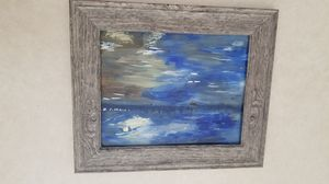 Abstract sail boat beach scene- acrylic on glass for Sale in Palmer, MA