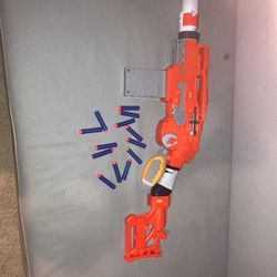 Nerf Scravenger Gun Comes With 3 Attachments And 12 Nerf Darts for Sale in Newcastle,  WA