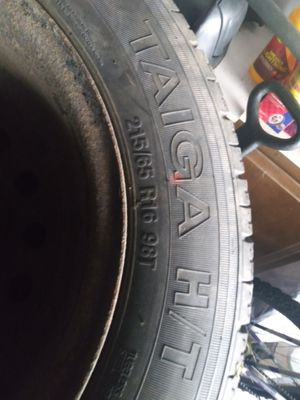 215/65 R16 96T Vee Rubber tiers with rims 5 lug for Sale in Rochester, NY
