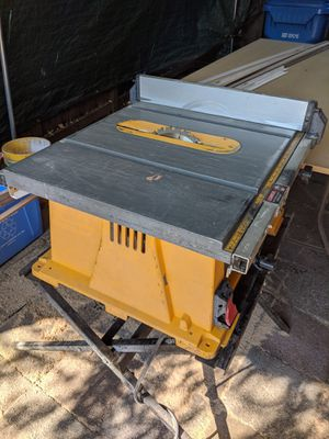 DeWalt Table saw with stand for Sale in Portland, OR