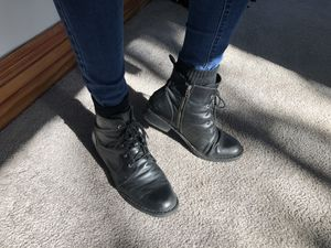 Black Leather Born Troye Vintage Lace-Up Boot Women Size 12M for Sale in Portland, OR