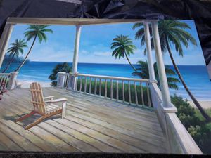 2 beautiful hawaii paintings canvas artwork 2'x3' for Sale in Aiea, HI